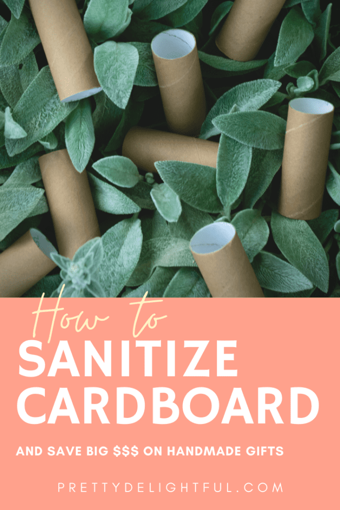 How to sanitize cardboard and save big money on diy handmade gifts.  Disinfect paper and cardboard carton packages for crafting and other diy projects.  Upcycled crafts. DIY crafts.